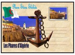 Vignettes De Fantaisie, Les Phares D'algerie -phare De Stora Skikda - Fantasy Labels