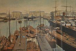 Belgique. Le Port à Anvers. Photogravure Fin XIXe. - Estampes & Gravures
