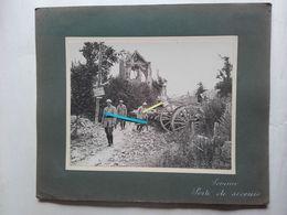 1916 Somme Génie 59 ème Bataillon Chasseurs à Pieds Poste De Secours Tranchée Poilu Ww1 14-18 1914 1918 Photo - War, Military
