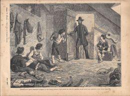 Mazzini Trovò Questi Disgraziati Alloggiati In Una Stanza.... Stampa 1891 - Documentos Antiguos