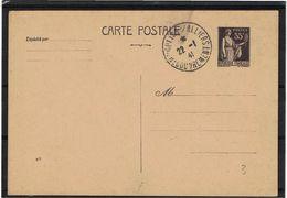 CTN63/EP - CP PAIX 55c  DATE 812 OBLIQUE REPIQUAGE (DARRASSE?) PREOBLITEREE MOULINS 22/1/1941 - Postal Stamped Stationery
