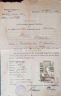 Judaica Jewish Certificate Palestine Poland Man Skarzysko 1948 20/5 !!! Judaika Juive Juif - Documents Historiques