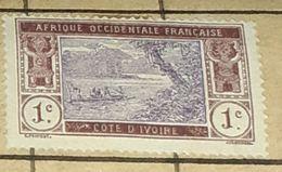 COTE D'IVOIRE,1C-USED STAMP - Costa De Marfil (1892-1944)