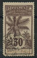 Mauritanie (1906) N 8 (o) Dente Manquante En Bas A Gauche Et Leger Amainci En Haut - Usados