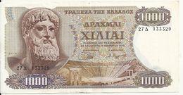 GRECE 1000 DRACHMAI 1970 VF P 198 - Grèce
