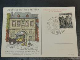 Journée Du Timbre 1947, La Porte Neuve - Cartoline Commemorative