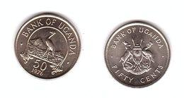 Uganda - 50 Cents 1976 AUNC Lemberg-Zp - Uganda