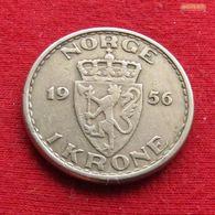 Norway 1 Krone 1956 KM# 397  Norge Noruega Norvege Norwegen - Norwegen