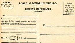 C9 1932 Poste Rurale Automobile  Bulletin De Commande Neuf - Postmark Collection (Covers)