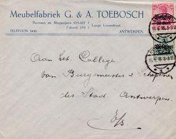 Enveloppe OC12 14 Meubelfabriek G. & A. Toebosch Antwerpen - Guerre 14-18
