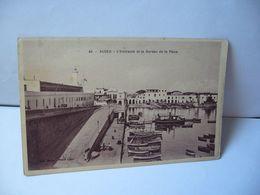 45 . ALGER ALGERIA ALGÉRIE L'AMIRAUTÉ ET LE BUREAU DE LA PLACE CPA 1928 - Algiers