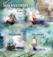 MOZAMBIQUE 2013 SHEET IVAN AIVAZOVSKY ART PAINTINGS ARTE PINTURAS Moz13313a - Mozambique