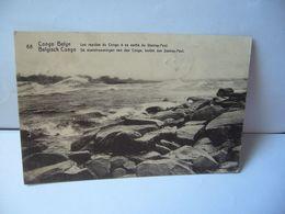 CONGO BELGE BELGISCH CONGO LES RAPIDES DU CONGO A SA SORTIE DU STANLEY POOL CPA 1921 - Congo Belga - Otros