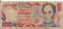 VENEZUELA 100 BOLIVARES 1980 VG+ P 59 - Venezuela