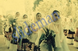 35mm DIAPOSITIVE SLIDE PHOTO 50s NATIVE GIRLS TEHUANTEPEC MEXICO  A27 - Diapositives