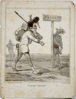 Campagne D'Italie De 1859.Napoléon III.Invasion Du Piémont Par Les Autrichiens.caricature De Cham. - Estampes & Gravures