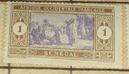 SENEGAL-SENEGALESE PREPARING FOOD,1C-USED STAMP - Senegal (1887-1944)