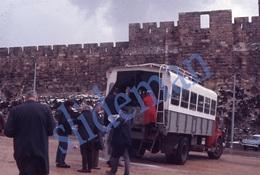 35mm DIAPOSITIVE SLIDE PHOTO 60s BUS JERUSALEM ISRAEL A28 - Diapositives