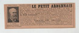 Le Petit Ardennais Corneau Meyrac Pierrard Charleville - Pubblicitari