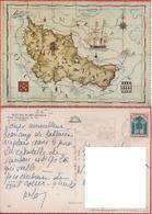 Belle Isle En Mer. Morbihan (F). Carte Topografique Par Pierre Cadre . Viaggiata 1967 - Unclassified