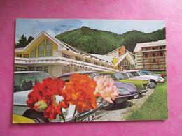 CPA ROUMANIE POIANA BRASOV HOTEL TELEFERIC VOITURES ANCIENNES DS CITROEN - Romania
