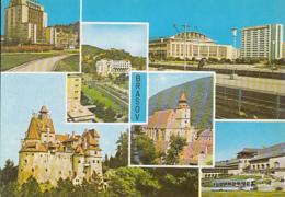 CPA BRASOV- HOTEL, ARMY CLUB, RAILWAY STATION, BLACK CHURCH, BRAN CASTLE, POIANA BRASOV HOTEL, BUSS - Romania