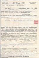"""ACTE DE CONCESSION D'UNE MINE à TULSA (OKLAHOMA) 1937 """"MINERAL DEED""""- Petrole, Gaz, Et Autres Minerais-timbre Fiscal - Estados Unidos"""