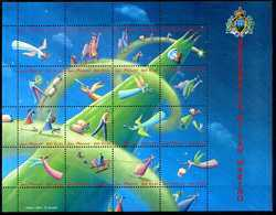 2001 SAN MARINO BF64 MNH ** - Blocs-feuillets
