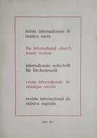 Rivista Internazionale Di Musica Sacra - Anno 4 - N. 4 - 1983 - Livres, BD, Revues