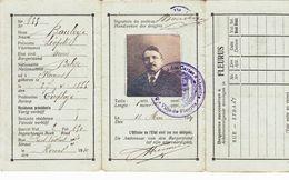 Ville De Fleurus Ancienne Carte D'identité - Vecchi Documenti