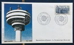 France 1er Jour D'émission 25.04.1987 FDC Europa Claude Vasconi YT 2471 – Grenier - 1980-1989