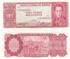 Bolivia - 100 Pesos Bol. 1962 P. 164a UNC Lemberg-Zp - Bolivia