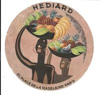 GF1600 - ETIQUETTE FRUITS HEDIARD PLACE DE LAMADELEINE PARIS  - ANANAS BANANES ORANGES ... - Fruit En Groenten