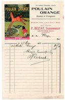 Gers / Facture Illustrée, Publicité CHOCOLAT POULAIN, Epicerie F. BEZIAT à LECTOURE, 1911, Successeur Maison LASSANCE. - Alimentaire