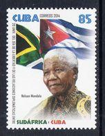 2014 Cuba Mandela Nobel Prize Flags Complete Set Of 1 MNH - Unused Stamps