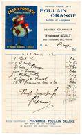Gers / Facture Illustrée, Publicité CHOCOLAT POULAIN, Epicerie F. BEZIAT à LECTOURE, 1912, Successeur Maison LASSANCE. - Alimentaire