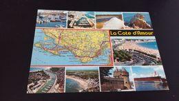 CARTE POSTALE Carte Geographique LA COTE D'AMOUR LES SITES TOURISTIQUES En L'état Sur Les Photos - France