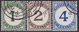 GIBRALTAR 1956 SG #D1-D3 Compl.set Used Postage Due - Gibraltar