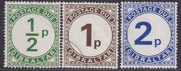 GIBRALTAR 1971 SG #D4-D6 Compl.set Used Postage Due - Gibraltar