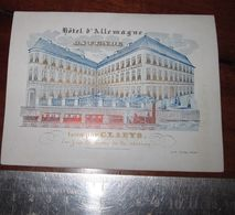 Ostende Hotel D'Allemagne Claeys Porceleinkaart - Porcelana