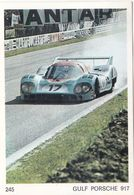 IMAGE Style CHROMO Voiture De Course Prototype GULF PORSCHE 917 - Documentos Antiguos
