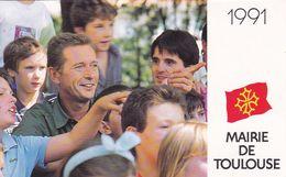 Calendrier  De La MAIRIE DE TOULOUSE 1991 - Dominique BAUDIS - Kalender