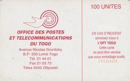 Togo, TOG-007, 100 Units, Earth Station 100 - Reverse 1, 2 Scans    CN : C54150100. - Togo