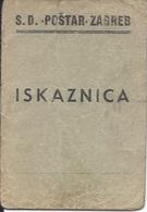 Membership Card DO000186 - Sportsko Drustvo Postar Zagreb Croatia Yugoslavia 1951 - Documents Historiques