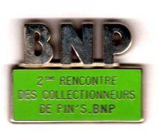 Pin's   Banque BNP 2 ème Rencontre Des Collectionneurs ZAmac Clark - Bancos