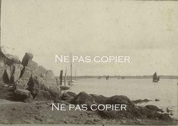 VANNES Vers 1905 La Côte Bateaux Morbihan Bretagne - Lieux