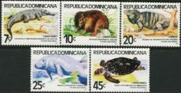 Dominican Republic Dominicana 1980 Manatee Crocodile Turtle Reptiles Animals Fauna MNH - Turtles