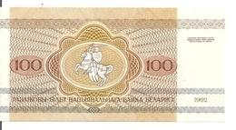 BIELORUSSIE 100 RUBLEI 1992 UNC P 8 - Wit-Rusland