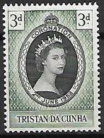 TRISTAN  Da  CUNHA    -   1953 .  QE II *.  Couronnement - Tristan Da Cunha