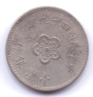 TAIWAN 1960: 1 New Dollar, 49, Y# 536 - Taiwan